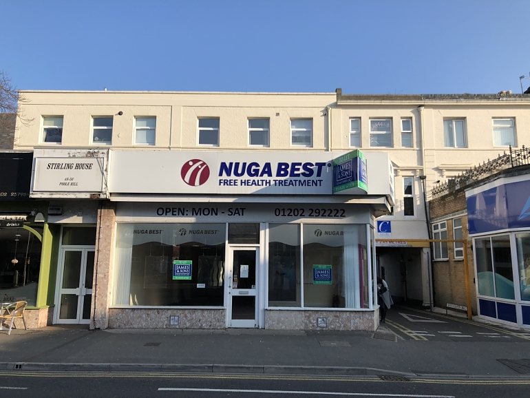 RETAIL UNIT WITH RETURN FRONTAGE IN BOURNEMOUTH TO LET